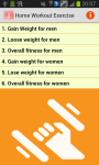 Home Workout Exercise Program screenshot 1/3