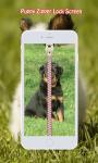 Puppy Zipper Lock Screen screenshot 1/6