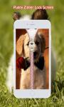 Puppy Zipper Lock Screen screenshot 4/6