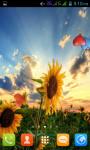 Sunflower Live Wallpaper Best screenshot 2/4