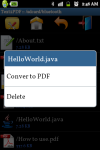 Android Text to PDF Converter screenshot 4/6