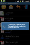 Android Text to PDF Converter screenshot 5/6