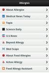Allergies app  screenshot 2/3