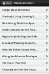 Allergies app  screenshot 3/3