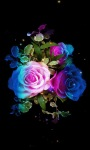 Rainbow Roses Live Wallpape screenshot 1/6
