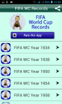 World cup Football Records screenshot 2/3
