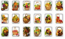 Basket Fruits Onet Classic Game screenshot 2/2