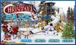 Free Hidden Object Game - Christmas Park screenshot 1/4