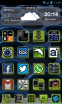 Go Launcher Theme 3D Android Green screenshot 1/3