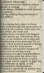 A MODEST PROPOSAL by Jonathan Swift screenshot 2/6