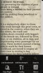 A MODEST PROPOSAL by Jonathan Swift screenshot 3/6