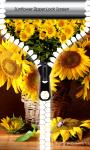 Sunflower Zipper Lock Screen screenshot 1/6