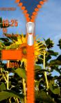 Sunflower Zipper Lock Screen screenshot 5/6