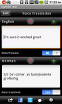 SpeechTrans Ultimate Translator Powered By Nuance screenshot 2/5