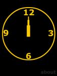 Orange Clock Screensaver screenshot 1/1