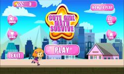 Cute Girl Math Survive screenshot 2/6