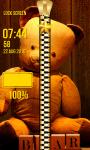 Teddy Bear Zipper Lock Screen Top screenshot 4/6