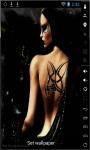 Black Tattoo Girl Live Wallpaper screenshot 1/2