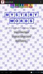 Mystery Words screenshot 1/6