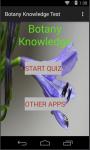 Botany knowledge test screenshot 1/4