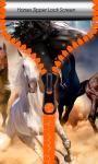 Horses Zipper Lock Screen screenshot 1/6