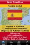 Spain Travel Log  Regions Visited (Autonomous Communities) screenshot 1/1