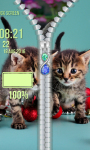 Kitty Zipper Lock Screen screenshot 5/6