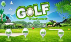 Golf Championship Games screenshot 1/4