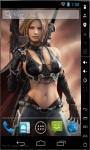 Warrior Girl Live Wallpaper screenshot 2/2