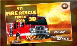 911 fire rescue truck 2016 3d screenshot 1/5