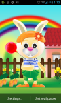 Bunny Rabbit Live Wallpaper screenshot 2/3