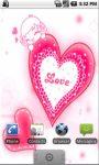 Pink Heart LWP screenshot 1/3