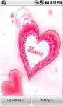 Pink Heart LWP screenshot 2/3