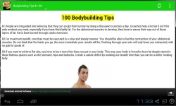 100 Body Building Tips 2014 screenshot 3/3