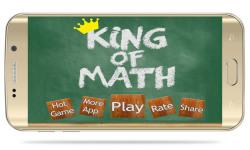 King of Math - Game for Kids to Learn Mathematics screenshot 1/6