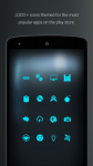 Pip Tec Blue Icons and Live Wall absolute screenshot 4/6