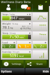 Nokia Wellness Diary screenshot 1/1