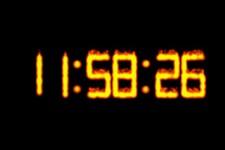 Particle Fire Clock screenshot 1/1