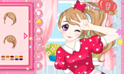Anime Pretty Selfie Postcard screenshot 1/3