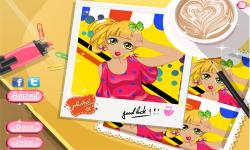 Anime Pretty Selfie Postcard screenshot 3/3