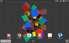 Flying Cubes Live Wallpaper Free screenshot 2/4
