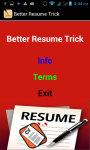 Better Resume Trick screenshot 2/3
