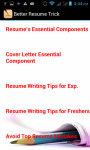 Better Resume Trick screenshot 3/3