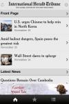 International Herald Tribune for iPhone screenshot 1/1