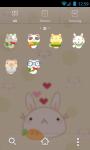 Cute Animals GO Launcher Bunny Cat Panda Bear screenshot 2/3