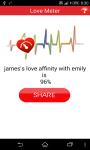 Love Meter Percentage Compatibility screenshot 2/4