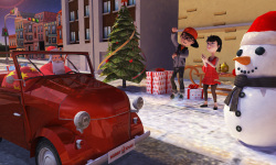 Christmas 3D Santa Car Parking screenshot 1/2