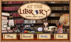 Free Hidden Object Games - At the Library screenshot 1/4