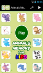 Animals Memory for Kids screenshot 1/4