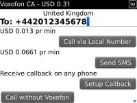 Voxofon International Calling and Texting screenshot 1/4